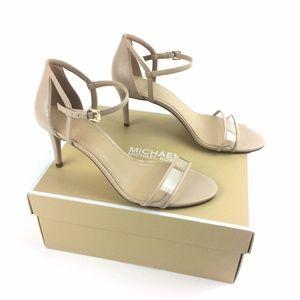 Michael Kors Simone Sandals Heels Clear Toe